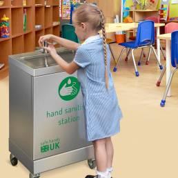 Hand sanitiser dispenser school classroom