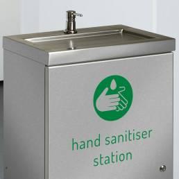 hand sanitiser dispenser stainless steel